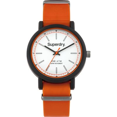Superdry CAMPUS NATO Herrklocka Orange SYG197O