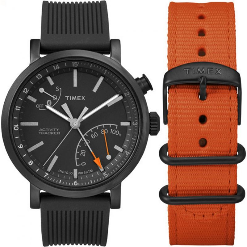 Mens Timex Indiglo Metropolitan+ Activity Tracker Bluetooth Hybrid Smartwatch Watch