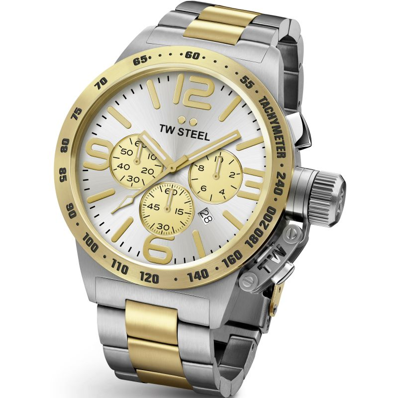 Mens TW Steel Canteen Chronograph 45mm Watch CB0033