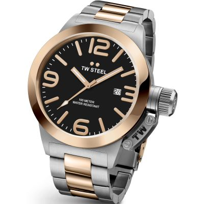 Mens TW Steel Canteen 45mm Watch CB0131