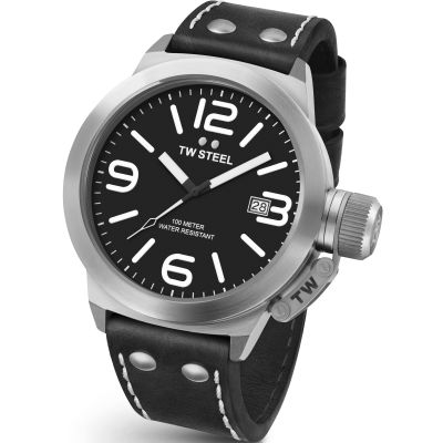 TW Steel Canteen Herrenuhr in Schwarz CS0001