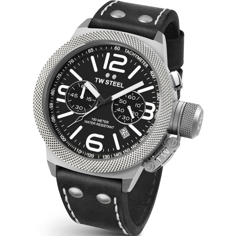 Mens TW Steel Canteen Chronograph 50mm Watch CS0004