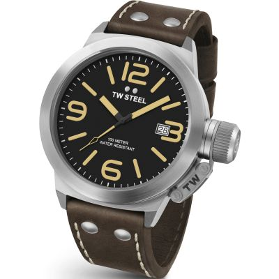 TW Steel Canteen Herrenuhr in Braun CS0031