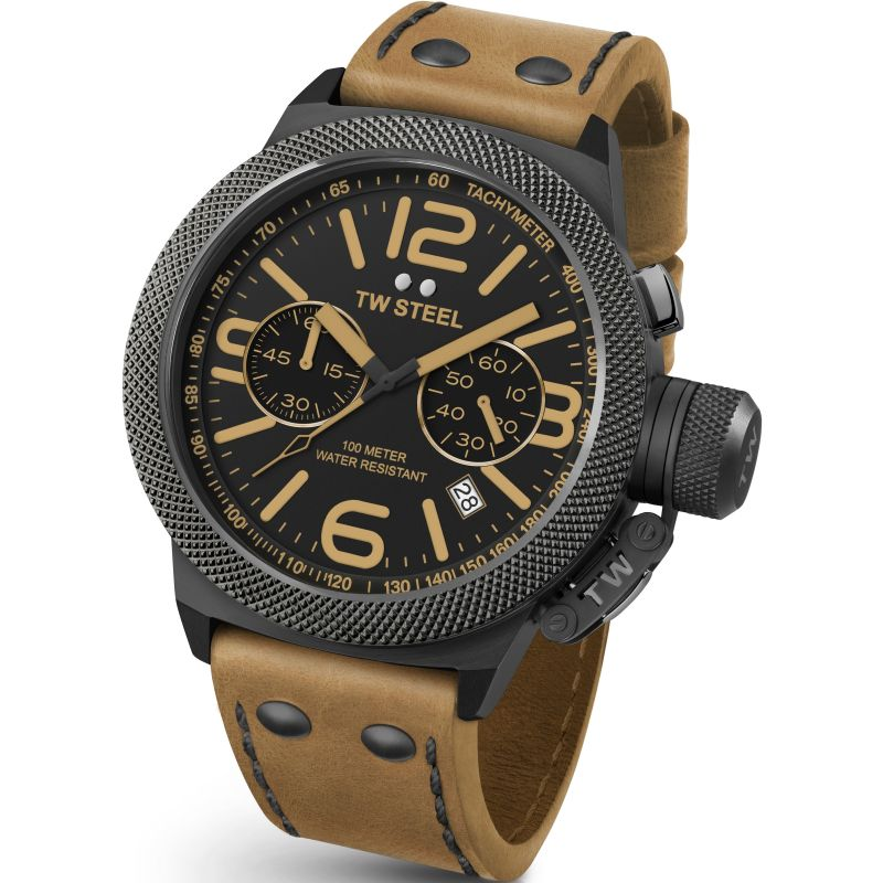 Mens TW Steel Canteen Chronograph 45mm Watch CS0043
