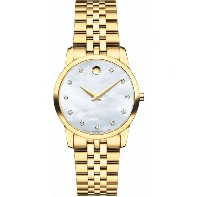 Ladies Movado Museum Classic Diamond Watch 0606998