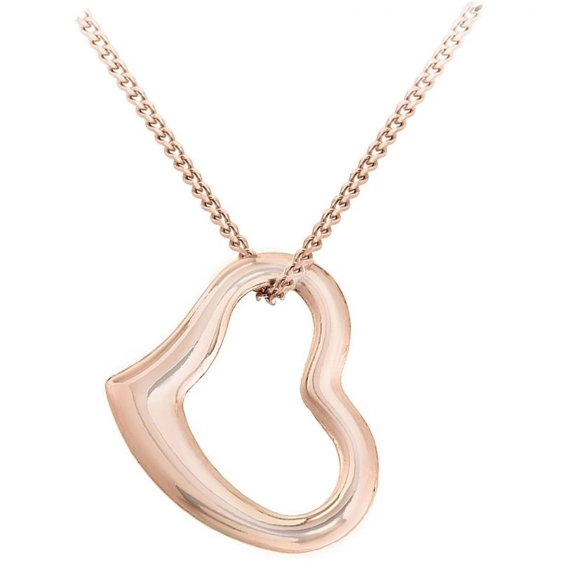 Ladies Essentials 9ct Rose Gold Small Floating Heart Pendant AJ-14400065