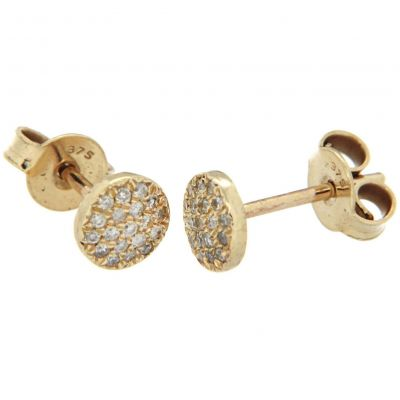 Ladies Essentials 9ct Gold Diamond Stud Earrings AJ-12152349