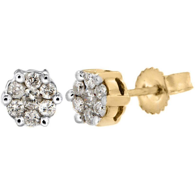 Ladies Essentials 9ct Gold 0.25ct Diamond Stud Earrings