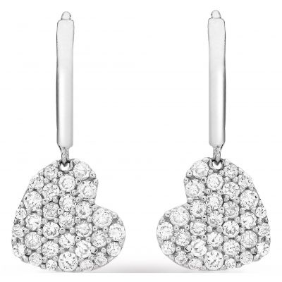 Gioielli da Donna Jewellery Essentials Cubic Zirconia Heart Drop Earrings AJ-15040244