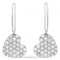 Jewellery Essentials Cubic Zirconia Heart Drop Earrings JEWEL