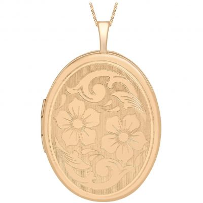 Jewellery Essentials Dames 20mm Flower Locket 9K Rose Goud AJ-14010042