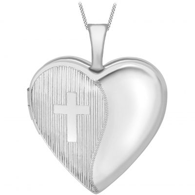 Ladies Essentials 9ct White Gold Heart Locket AJ-14010035