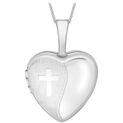 Ladies Essentials 9ct White Gold 12mm Heart Locket AJ-14010028