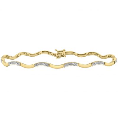 Ladies Essentials 9ct Gold Diamond Set Bracelet AJ-12110655