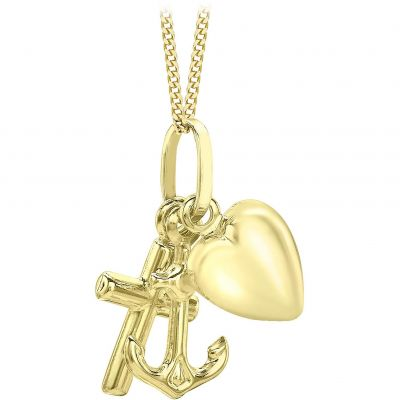 Ladies Essentials 9ct Gold Charm Pendant AJ-14400050