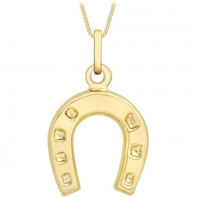 Damen Jewellery Essentials Horse Shoe Anhänger 9 Karat Gold AJ-14400052