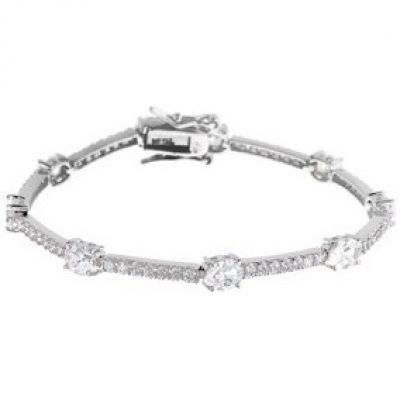 Damen Jewellery Essentials Cubic Zirconia Armband Sterling-Silber AJ-37230267