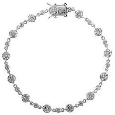 Ladies Essentials Sterling Silver Cubic Zirconia Bracelet AJ-37230270