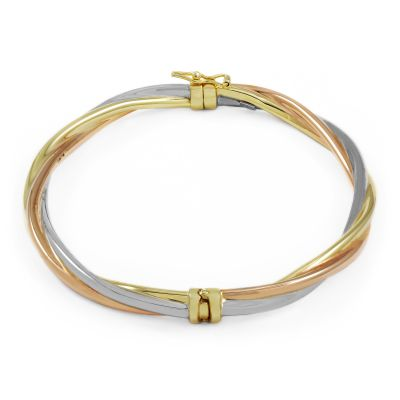 Jewellery Essentials Dames Italian Twist Bangle Meerkleurig goud AJ-11072461