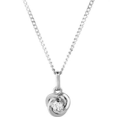 Ladies Essentials 9ct Gold Cubic Zirconia Knot Pendant AJ-14410097