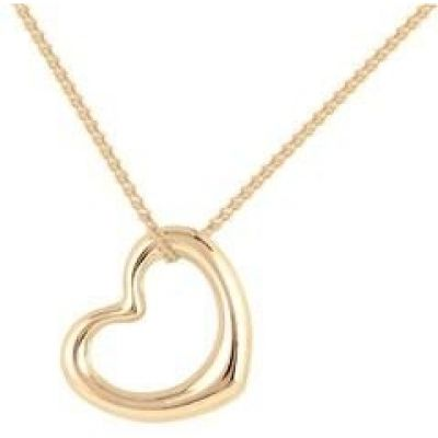 Ladies Essentials 9ct Gold Italian Open Heart Pendant AJ-14410116
