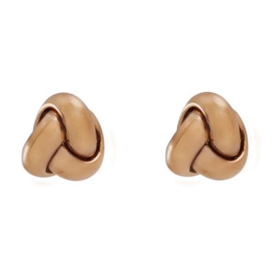 Ladies Essentials 9ct Rose Gold Italian Knot Stud Earrings AJ-15010204