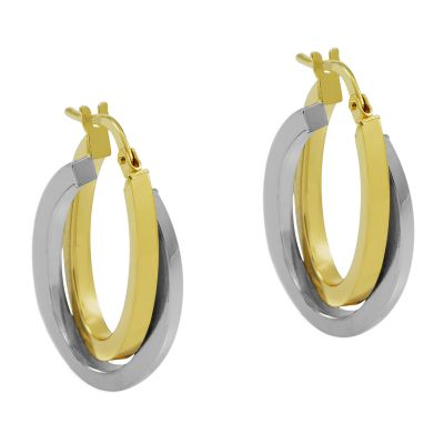 Bijoux Femme Jewellery Essentials Italian Intertwined Hoop Boucles d'oreilles AJ-15030303