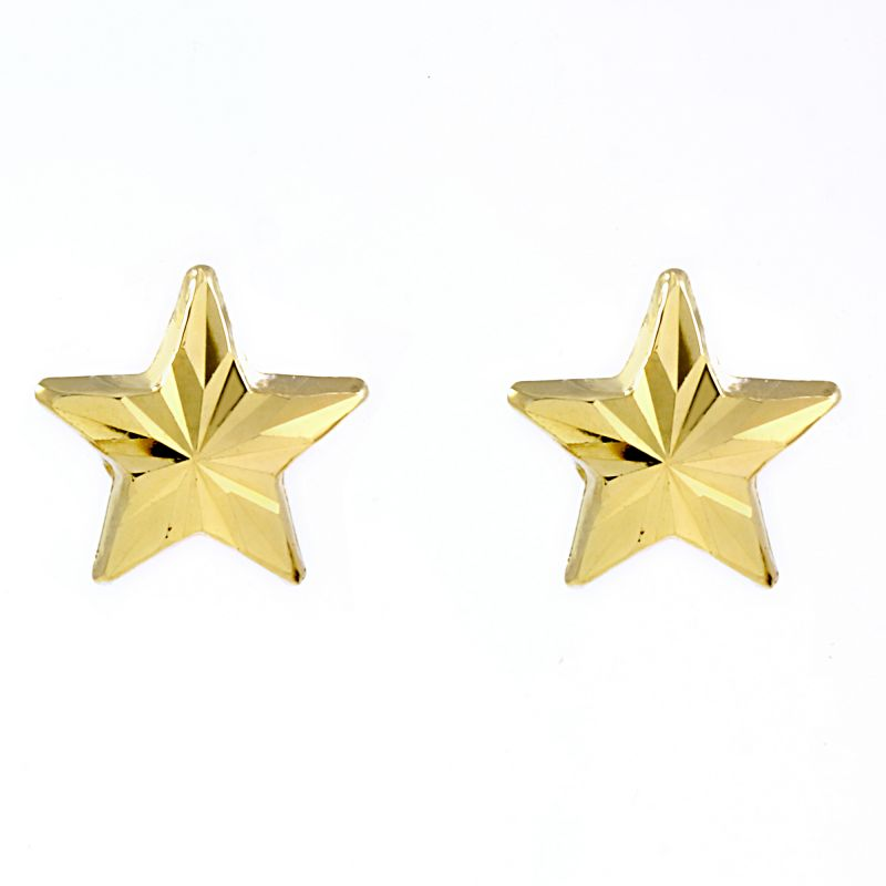 Ladies Essentials 9ct Gold Star Stud Earrings AJ-15040142