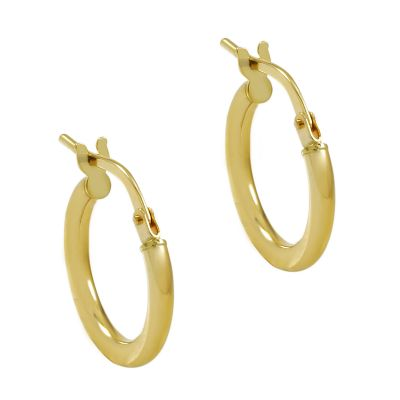 Ladies Essentials 9ct Gold Small Hoop Earrings AJ-15030414
