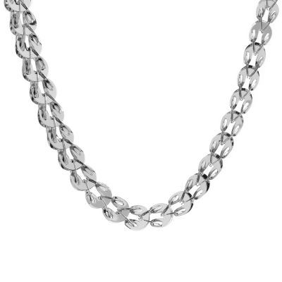 Ladies Essentials 9ct White Gold Multilink Necklace AJ-14400035