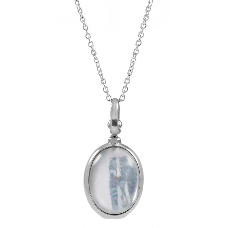 Ladies Essentials Sterling Silver Mother of Pearl Locket AJ-37230775