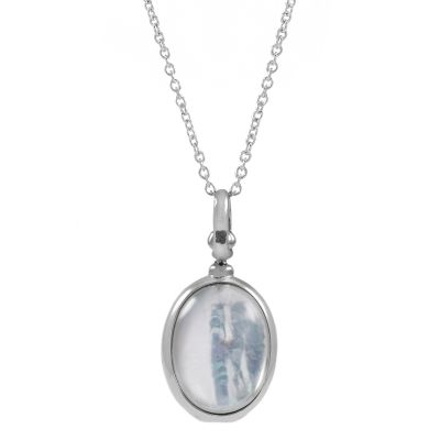 Jewellery Essentials Dames Mother of Pearl Locket Sterling Zilver AJ-37230775