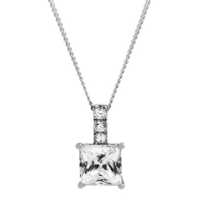 Jewellery Essentials Dames Cubic Zirconia Pendant 9K Witgoud AJ-14410138
