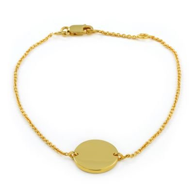 Bijoux Femme Jewellery Essentials Engravable Coin Disc Bracelet AJ-37230796