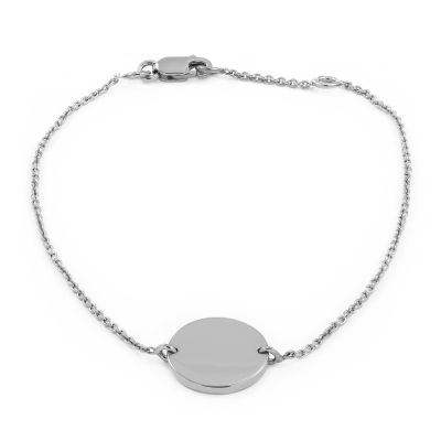 Ladies Essentials Sterling Silver Engravable Disc Bracelet AJ-37230778