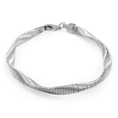 Ladies Essentials Sterling Silver Twisted Bracelet AJ-37230892