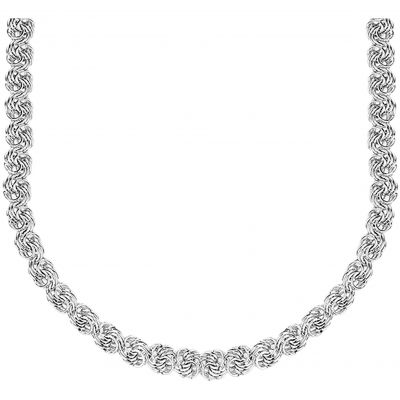 Ladies Essentials Sterling Silver Rose Link Necklace AJ-37230871