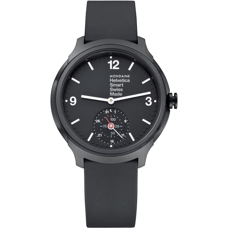 Mens Mondaine Helvetica Smart Bluetooth Hybrid Activity Tracker Alarm Watch MH1B2S20RB