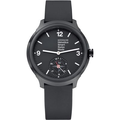 Mondaine Helvetica Smart Bluetooth Hybrid Activity Tracker Herrenuhr in Schwarz MH1B2S20RB
