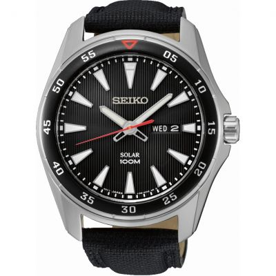 Mens Seiko Solar Powered Watch SNE393P2
