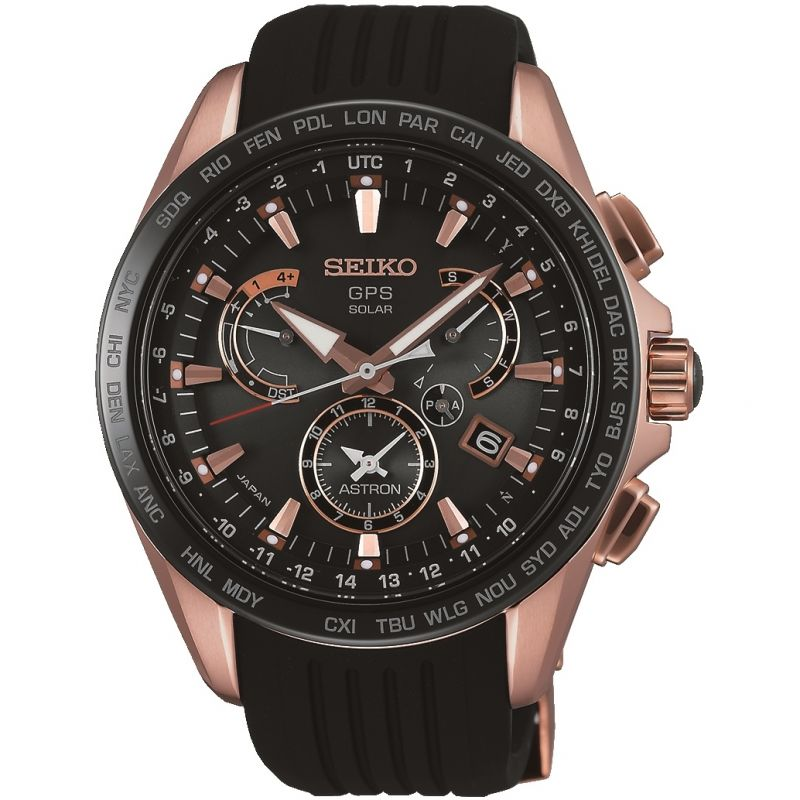 Mens Seiko Astron GPS Chronograph Watch SSE055J1