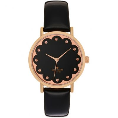 Kate Spade New York Metro Scalloped Dial Damenuhr in Schwarz 1YRU0583