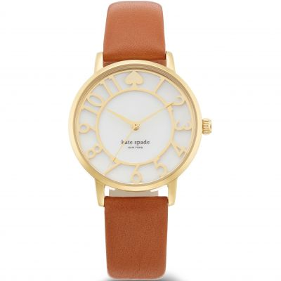 Kate Spade New York Metro Number Dameshorloge Bruin 1YRU0783