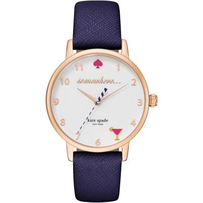 Kate Spade New York Metro 5 oclock Dameshorloge Blauw KSW1040