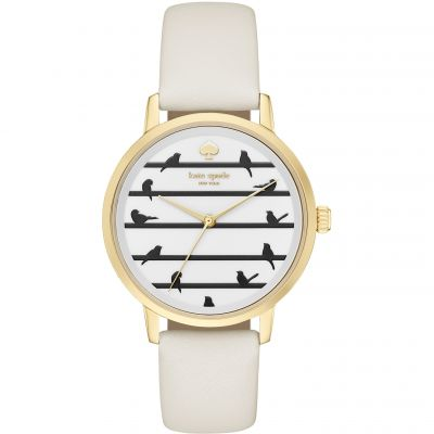 Kate Spade New York Metro Birds Damenuhr in Weiß KSW1043