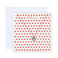 Johnny Loves Rosie Jewellery Hello You Heart Necklace Gift Card JEWEL