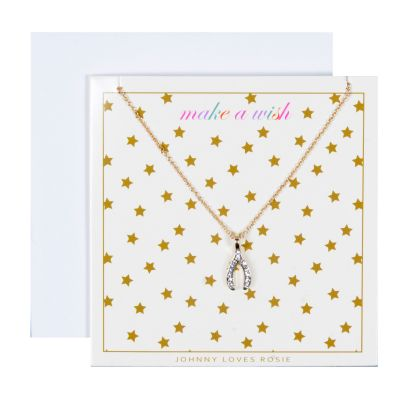 Johnny Loves Rosie Dames Make A Wish Pendant Gift Card Basismetaal JLR-GCARD-WISH
