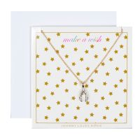 Johnny Loves Rosie Jewellery Make A Wish Pendant Gift Card JEWEL