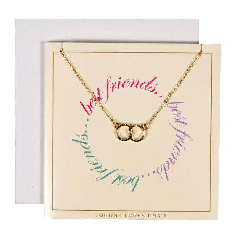 Ladies Johnny Loves Rosie Base metal Best Friends Gift Card JLR-GCARD-BESTF