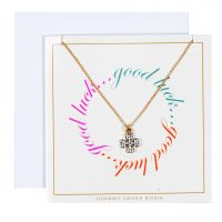 Johnny Loves Rosie Jewellery Good Luck Clover Gift Card JEWEL